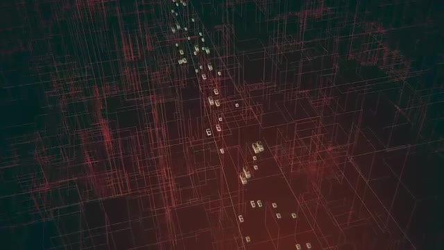Futuristic Digital City Traffic: Stock Motion Graphics