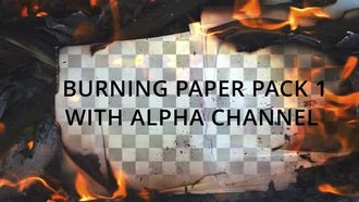 Burning Paper Pack 1: Stock Video