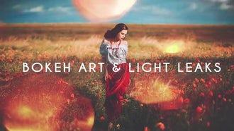 Bokeh Art and Light Leaks: Stock Video