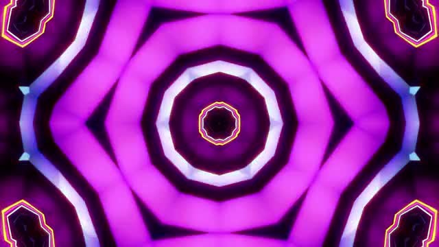 Purple Kaleido Tunnel VJ Background: Stock Motion Graphics