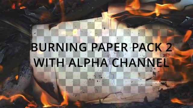 Burning Papper Pack 2: Stock Video