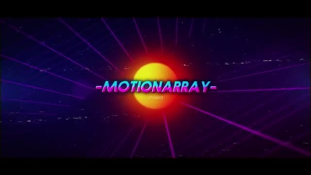 Synthwave 80s Intro: After Effects Templates