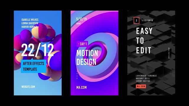 15 Stories With 3d Animated Backgrounds: After Effects Templates