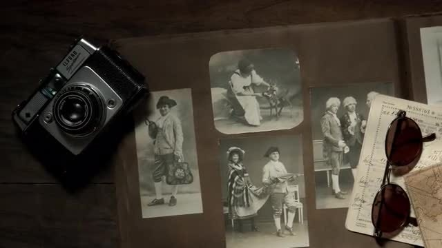 Old Photographs: Stock Video