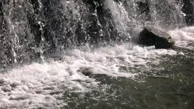 Waterfall Closeup: Stock Video