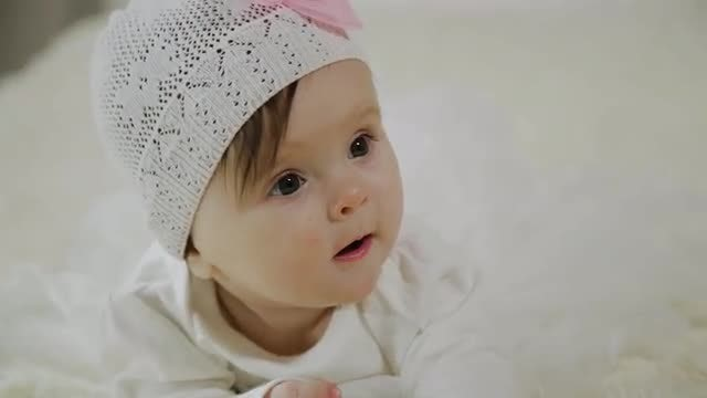 Close-Up Of A Baby: Stock Video