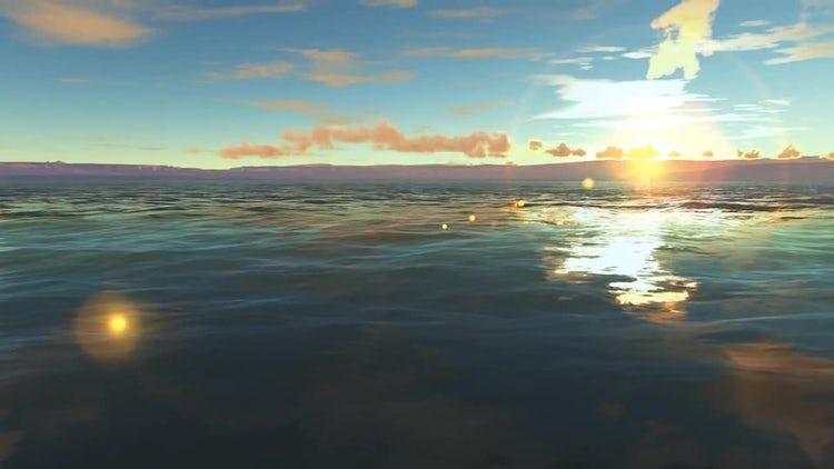 Lake Sunrise: Stock Motion Graphics