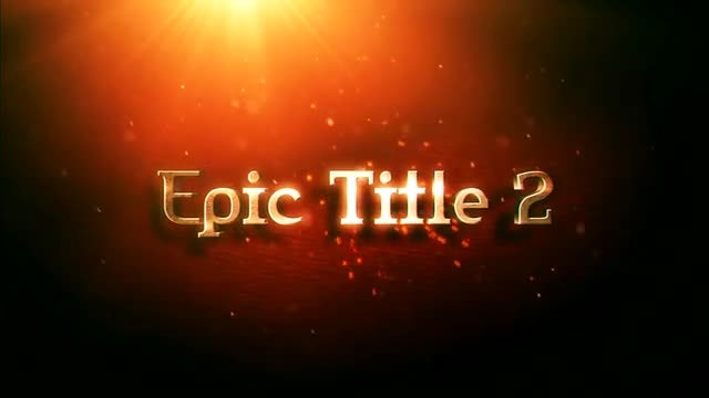 Epic Title 2: After Effects Templates