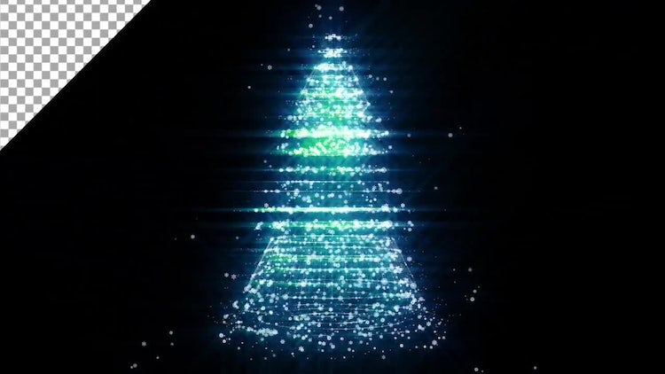 Christmas Tree Loop Backgrounds: Motion Graphics