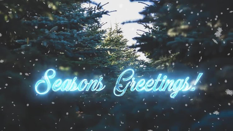 Animated Holiday Phrases: Motion Graphics