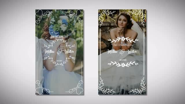 Instagram Wedding Story: After Effects Templates