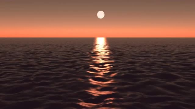 Evening Sea View 4K Animation: Stock Motion Graphics