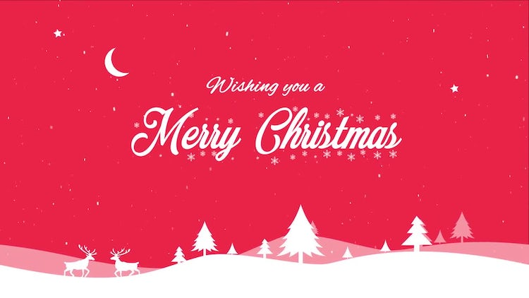 Christmas Greeting: Motion Graphics