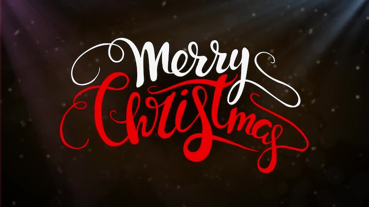 10 Christmas Lettering: After Effects Templates