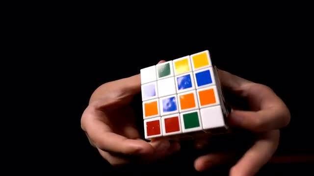 Solving Rubik Puzzle Cube: Stock Video