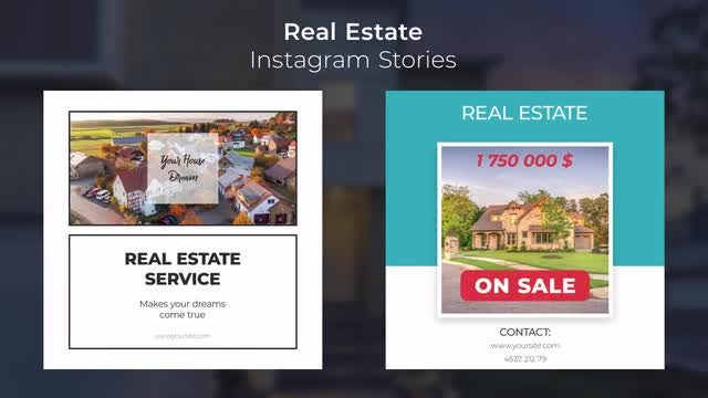 Real Estate Instagram Stories: Motion Graphics Templates