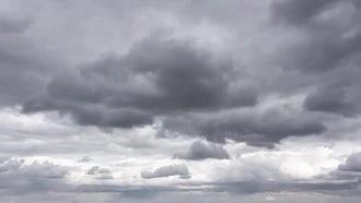 4K Overcast Sky: Stock Video