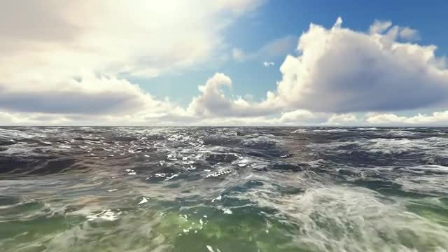 Waves On Ocean: Stock Motion Graphics