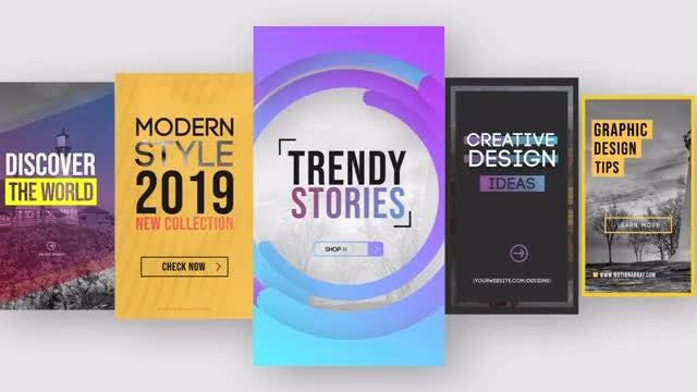 Trendy Instagram Stories V1: Motion Graphics Templates