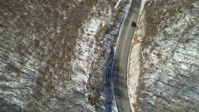 Driving On The Mountain: Stock Video