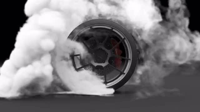 Tire Burnout: Stock Motion Graphics