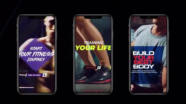 Instagram Stories: Sport Pack: After Effects Templates