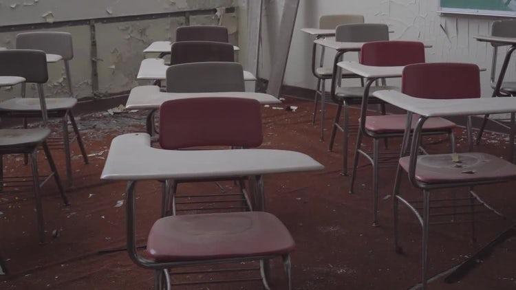 Abandoned Classroom: Stock Video