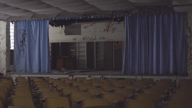 Abandoned College: Stock Video