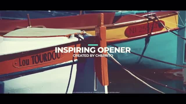 Inspiring Opener: After Effects Templates