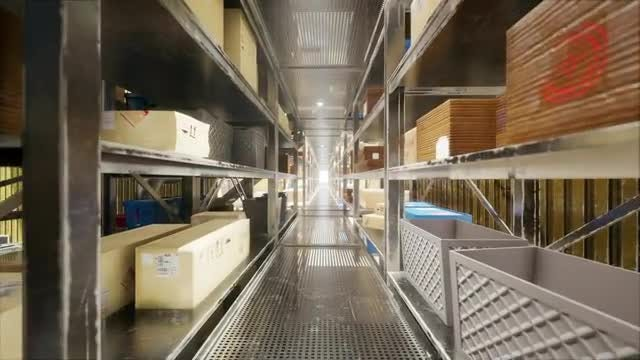 Warehouse With Boxes: Stock Motion Graphics