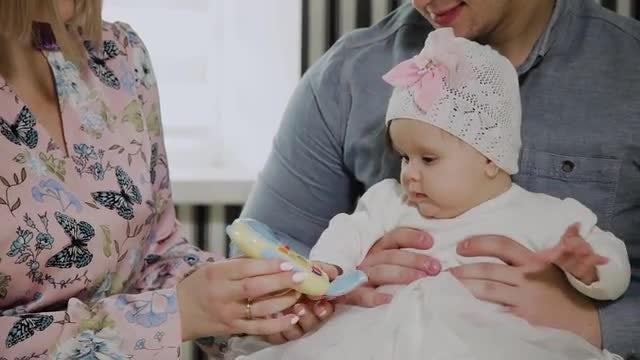 Couple With Their Daughter: Stock Video