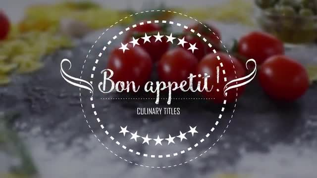 Culinary Titles: After Effects Templates