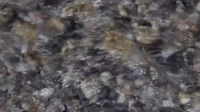 Zoom Out Flowing Water: Stock Video