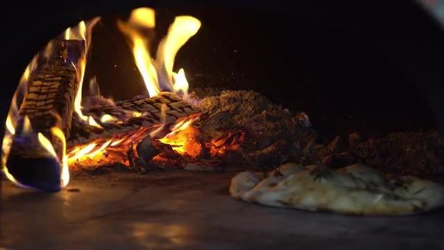 Cooking Pie In Coal Oven: Stock Video