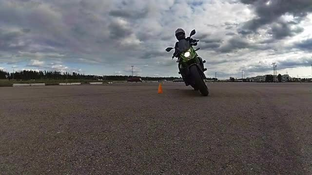 Motorcyclist Rides On Camera: Stock Video