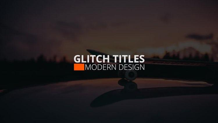 Glitch Titles & Logo: Premiere Pro Templates