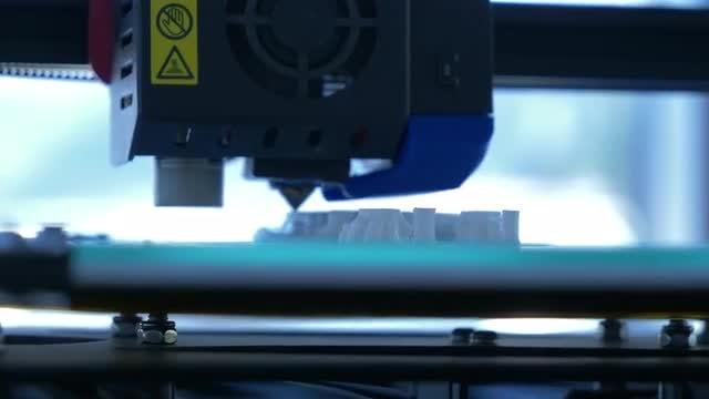 3D Printer Running: Stock Video