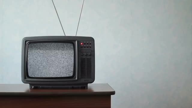Scary Static On Old TV - Stock Video | Motion Array