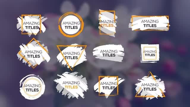 12 Grunge Titles: Premiere Pro Templates