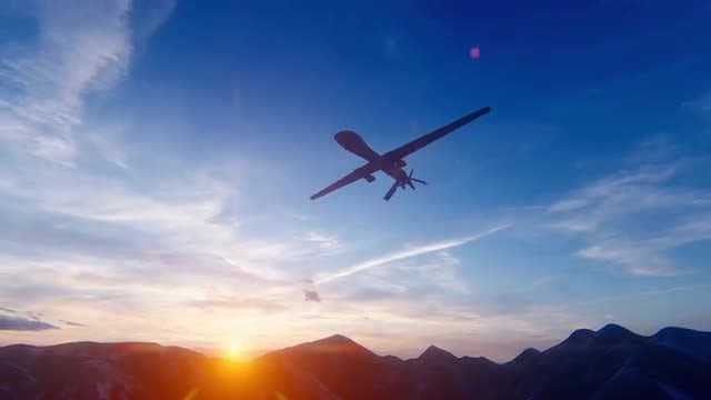 Army Drone: Stock Motion Graphics