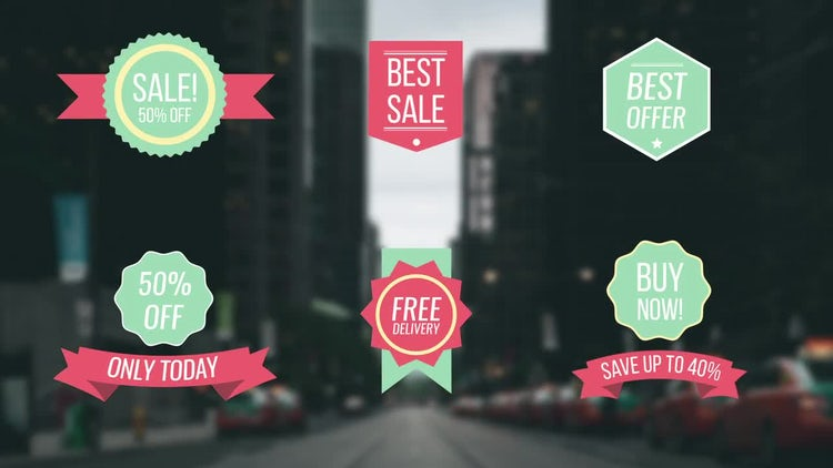 Sales Offer Titles: After Effects Templates