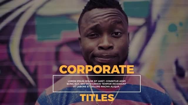 Corporate Titles - Lower Thirds: Premiere Pro Templates