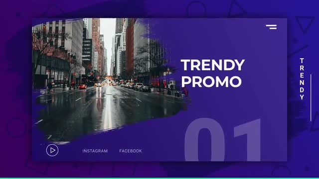 Trendy Modern Promo: After Effects Templates