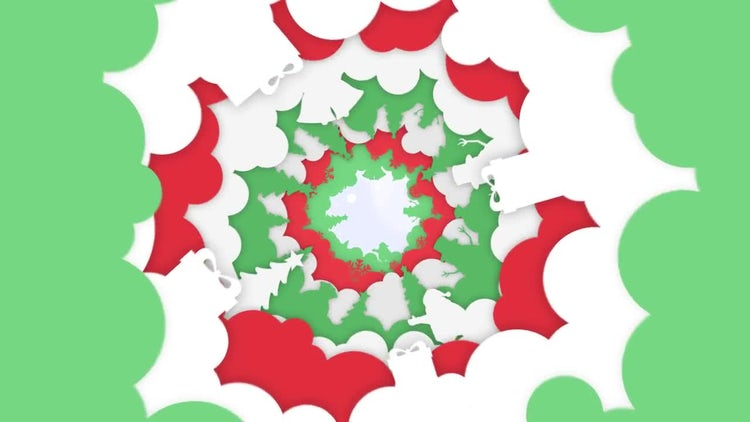 Christmas Kaleidoscope Opener: After Effects Templates