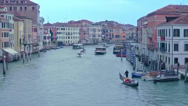 Grand Canal In Venice, Italy: Stock Video