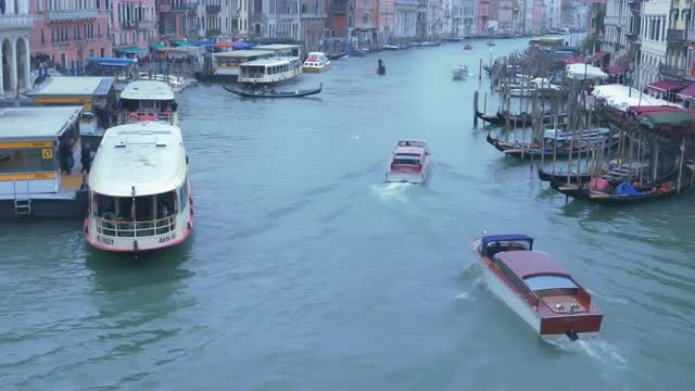 Grand Canal In Venice: Stock Video