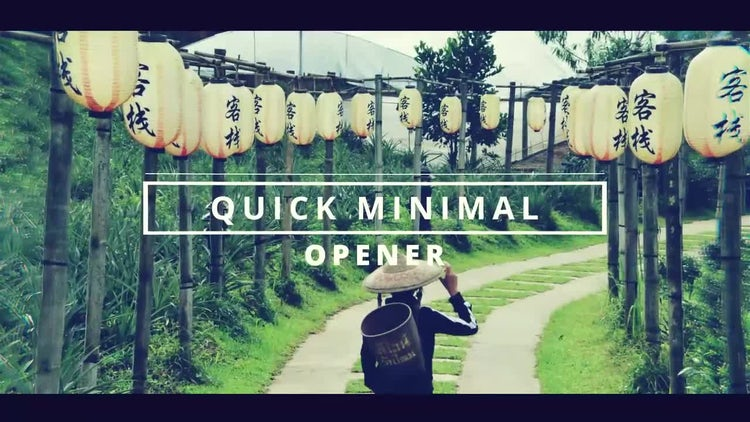 Quick Minimal Opener: After Effects Templates