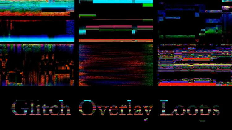 Glitch Overlay Loops: Stock Motion Graphics