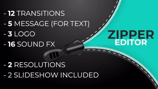 Zipper Pack Transitions | Editor: Premiere Pro Templates