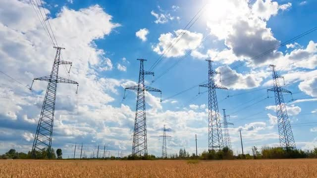 High Voltage Lines Tower: Stock Video